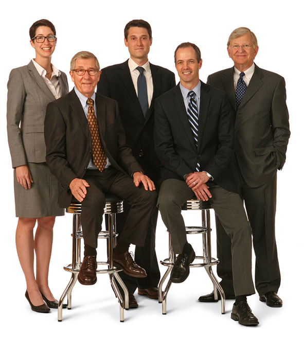 Photograph of Bill Jensen and the other Miller O'Brien Jensen lawyers